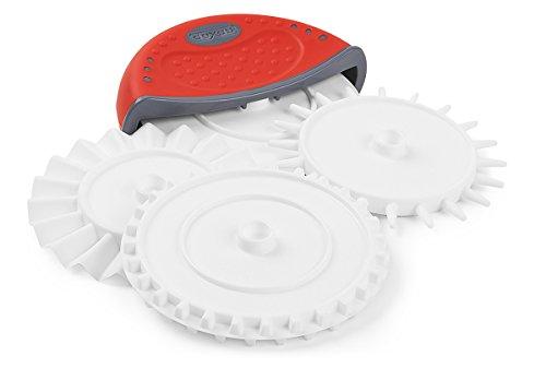 Dexas 4 in 1 Dough Prep Set Tool: Pizza Cutter, Cutting wheel, Fluted Wheel, Dough Docker