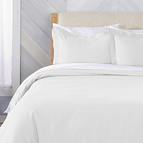 Great Bay Home Extra Soft Flannel Duvet Cover with Button Closure. 100% Turkish Cotton 3-Piece Set with Pillow Shams. Nordic Collection (Twin, Winter White) Bay Duvet Cover Set