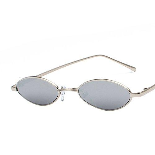 Plateado De Uv400 Tonos Claro Redondo Metal Luz Gafas Ovalado Gafas Hombres Mujer Sol Eye Retro Femenina Gafas Cat De De Sol Pequeñas Silver Transparente KLXEB Super BHwg1nxx