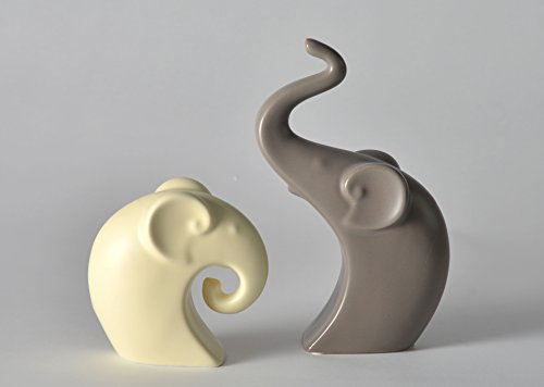 Pangu Porcelain Couple Elephant 2 Piece Figurine Set - Home Decor Accessories 9