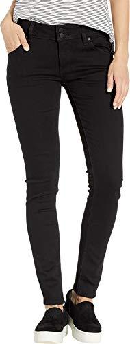 HUDSON Women's Collin Mid-Rise Skinny in Black Black 26 32
