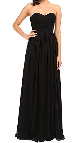 Black Dress Faviana (Faviana Women's Strapless Chiffon Convertible Dress 7822 Black Dress 4)