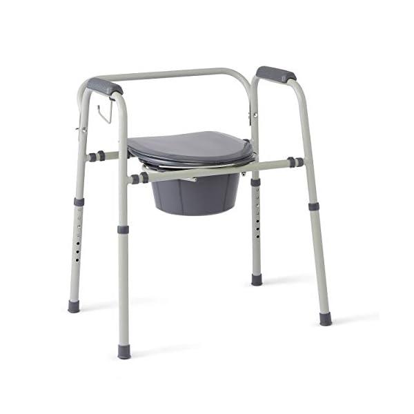 Admirable Medline Steel 3 In 1 Bedside Commode Portable Toilet With Uwap Interior Chair Design Uwaporg