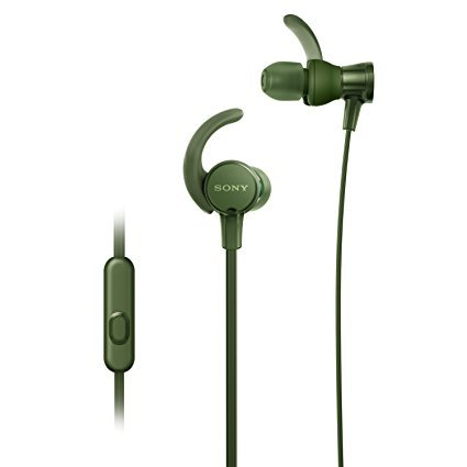 Renewed  Sony Extra Bass MDR XB510AS in Ear Sports Headphones with Mic  Green