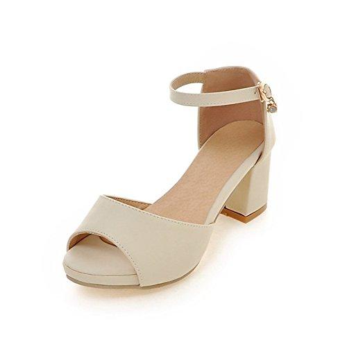 Chunky ZHZNVX primavera di similpelle personalizzato donna Comfort Office Materiale Scarpe Novità Casual per carriera sandali tonda Pink tallone nero punta autunno vXrwBqvxn