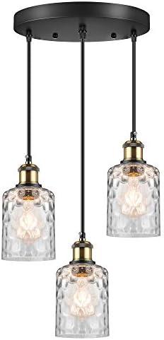 WENFENG Industrial 3-Light Pendant Lighting