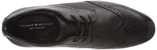 Dressy Nero Leather Uomo Scarpe Casual Tommy Shoe Stringate Hilfiger Oxford 990 Black Hqpx1B