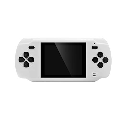 (Show TINE ON Multi-Function Handheld Game for POWKIDDY S600,Portable Card Handheld FC Game 3.0 Inch Built-in 68 Game High Definition Screen Retro Game Machine Console Boys Girls Birthday Gift (White))
