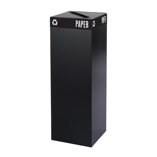 - Safco Products 2984BL Public Square Recycling Trash Can Base, 42-Gallon (Top sold separately), Black