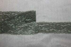 5 Yards sage Green Scalloped Stretch Lace Baby Headband 1.25