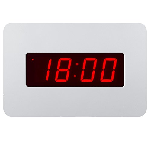 Timegyro Silent Digital Alarm Clock Wall Clock for Bedrooms Operated by Battery Only, Coming with Back Clip. You Can Place It on Desk Or Wall(White)