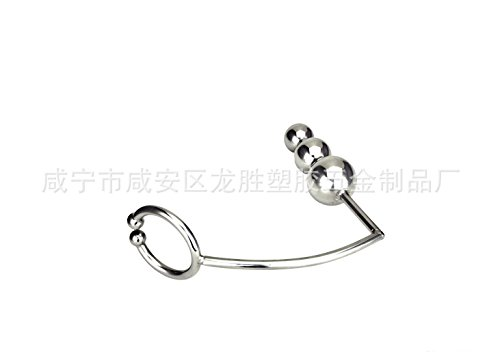 1pcs Factory direct sale of stainless steel precision mirror three ball anal hook anal plug anal lock anus alternative toys