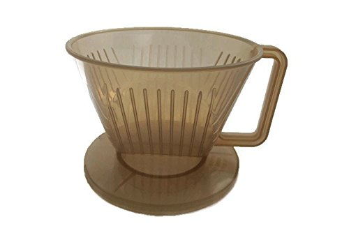 Plastic Coffee Maker Filter Cone,Plastic Coffee Dripper, size 9.5 CM, Brown