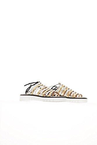 Tipi e Tacchi Mujer zapatos con correa plateado