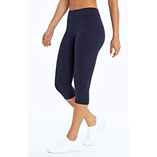 Marika Women's Ava Performance Slim Capri Legging, Midnight Blue, Small