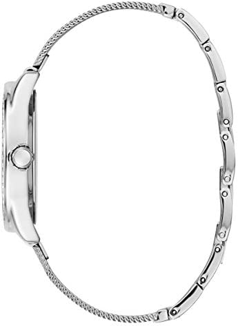 GUESS Women's Year-Round Quartz Watch with Stainless Steel Strap, Silver, 16 (Model: W1142L1)