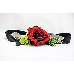 Pave Wedding Design   Dog Wedding Collar - Red Silk Rose & Hydrangeas   Dog Wedding Attire & Accessories 101