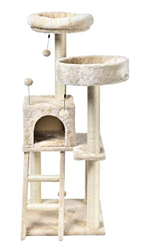AmazonBasics Cat Tree - Dual Platform, Beige