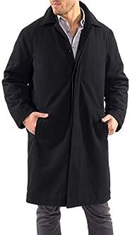 alpine swiss Mens Wool Trench Coat Knee Length Overcoat