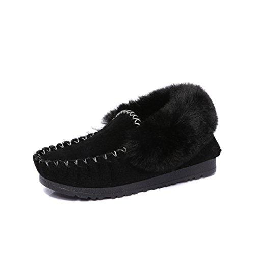 Botas suede nieve en invierno/ botas de grueso invierno cálido en el final de/ zapatos de piel de las mujeres fondo plano/Zapatos de Doug A