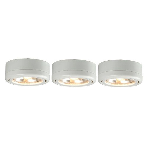 Ge 31393 Enbrighten Plug In Linkable Led Puck Lights W: Halo LED Under Cabinet Puck Light