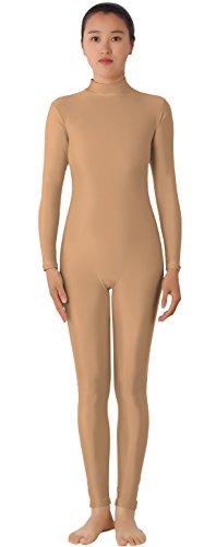 JustinCostume Lycra Spandex Adult Unitard Bodysuit Dancewear XL (Flesh Colored Bodysuit)