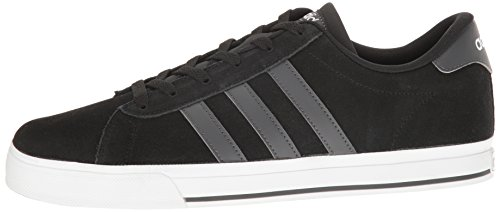 Adidas NEO Men's Daily Fashion Sneaker, Black/Dark Grey Heather/White, 11.5 M US