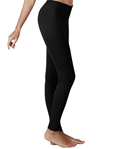 YOGARURU Women's Active Yoga Running Pants Workout Leggings With Hidden Pocket, Black , 2XL