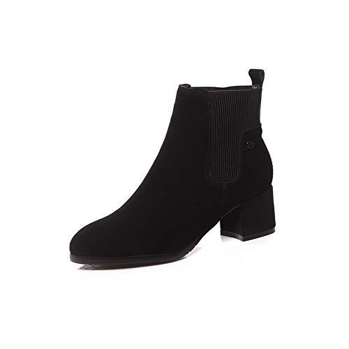 Negro Sandalias De Cuña Mns03590 Con Cuero 1to9 Mujer wTn0AqgUxx