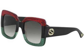 Gucci GG0083S 001 Red-Black With Grey Gradient Lenses 55MM - Gucci Red Glasses