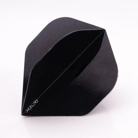 30 x RUTHLESS Darts Flights R4X Black Xtra Strong Standard (10 sets) by PerfectDarts (Harrows Carbon Dart Flights)