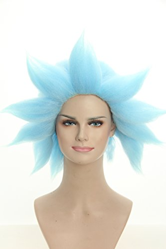 Price comparison product image Weave Wigs - Halloween Wig Spiky Blue Wig Cosplay Wig for Men and Women