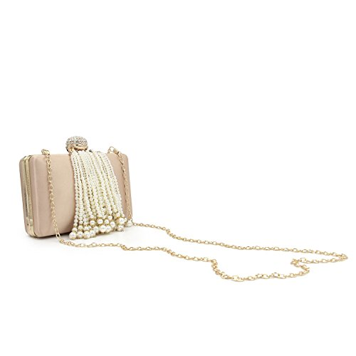 KYS Purses red Purse Tassel Female Beaded Fashion Day Ladies Bags Clutches Evening Women rose Wedding rtCxzw6qcr