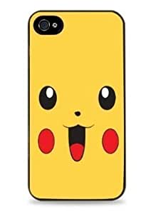 159 Pikachu Large Apple iPhone Hard Case for iPhone 6 (4.7 Inch) i6 -Black - by kobestar