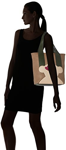 Tous Shopping Patch Greet - Borse a spalla Donna, Varios colores (Multi / Piedra), 14x32x37 cm (W x H L)
