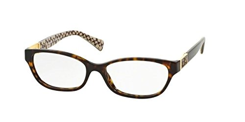 Coach Emma Eyeglasses HC6061 5262 Dark Tort/Dark Tort Sand Sig C 50 15 - Glasses For Coach Frames Women