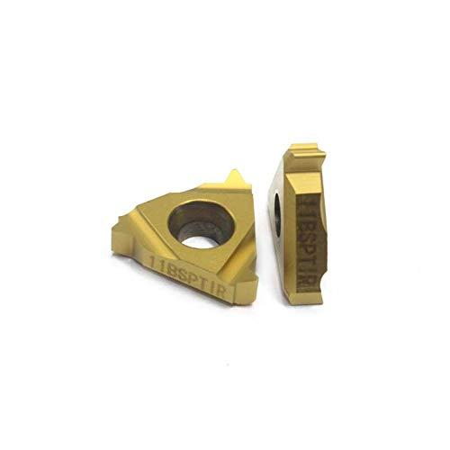 1 lot 16IR 11BSPT 20PCS CNC Carbide Insert Lathe Cutter Tool thread cutting tool threading insert 16IR 11BSPT LDC for Steel parts
