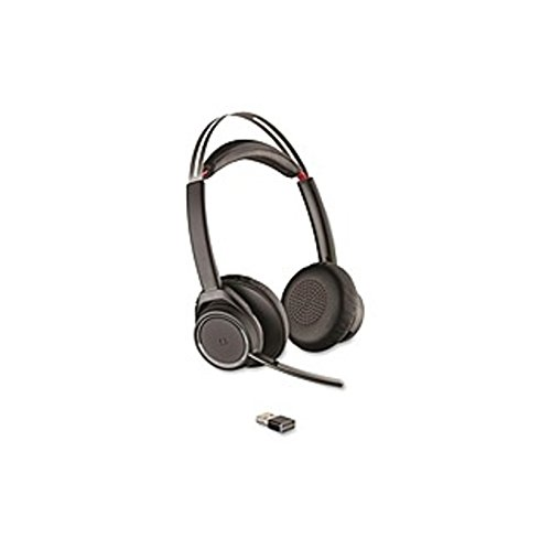 Plantronics Voyager Focus Noise-canceling Headset - Stereo - Wireless - Bluetooth - 150 ft - Over-the-head - Binaural - Supra-aural (Certified Refurbished)