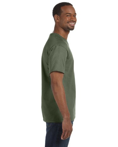 Gildan Men's Ultra Cotton Tee Extended Sizes, Military Green, XXX-Large