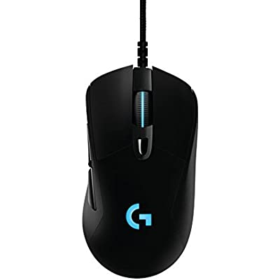 Logitech G403 Prodigy Wired Gaming Mouse  12 000 DPI  RGB  Lightweight  Programmable Buttons  On-Board Memory  Compatible with Mac Black