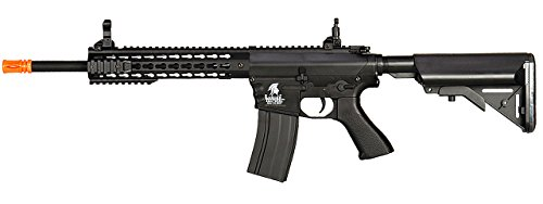 - UKARMS Lancer Tactical AEG M4 Keymod Electric Automatic Airsoft Rifle Gun - FULL METAL GEARBOX -