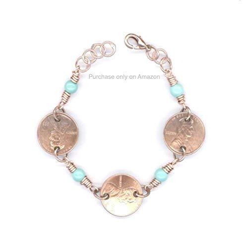 624c09445e8d2 Amazon.com: 1948 Penny Bracelet 71st Birthday Gift December ...