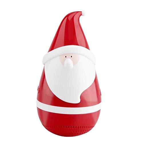 Hemobllo draadloze Bluetooth luidspreker met kerstman patroon kerstdecoratie tafeldecoratie geschenk