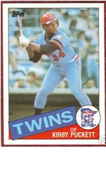 1985 Kirby Puckett Topps Baseball MLB Rookie Cards - Near Mint to Mint Condition (Minnesota Twins) (Kirby Puckett Minnesota Twins Baseball)