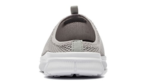 Breathable Grey Slippers Shoes Men's Casual FLYWIND White On Slip Mesh 5wptqq8S