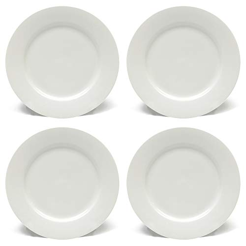 Maxwell & Williams White Basics - Maxwell Williams White Basics Rim Side Plates with Rims, Porcelain, White, 16 cm, Set of 4