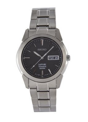 Men's Quartz Titanium Casual Watch, Color:Silver-Toned (Model: ) - Seiko SGG731