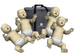 4-Pack of Infant CPR Manikins with Compression Rate Monitors by Prestan, Medium Skin Tone PP-IM-400M-MS by Prestan Products