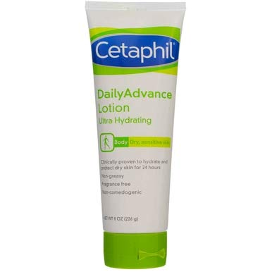 - Cetaphil DailyAdvance Ultra Hydrating Lotion for Dry/Sensitive Skin 8 oz