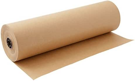 Kraft Paper Roll 30'' X 1800'' (150ft) Brown Mega Roll - Made in Usa 100% Natural Recycled Material - Perfect for Packing, Wrapping, Craft, Postal, Shipping, Dunnage and Parcel